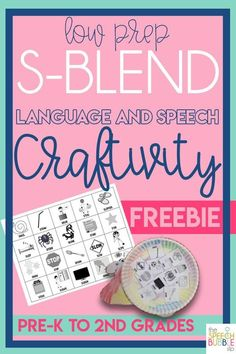 This printable FREEBIE is so fun for your English language arts or Speech Therapy classroom!  Easy to prep and great to target S blend practice, you will love this!  #SpeechBubble #free #printable #TpT #artic #articulation #SLP #SpEd #ELA #elementary #craftivity #BackToSchool
