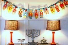 Hanukkah decor - make with turkeys this year for Thanksmanukkah, lol