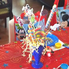Mickey Mouse Clubhouse Birthday Party centerpiece