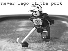 Hockey - Never lego of the puck! Lego Hockey, Rink Hockey, Hockey Room, Hockey Party, Hockey Players, Hockey Memes, Funny Hockey, Hockey World, Hockey Season