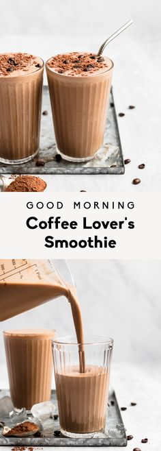 Learn how to make a coffee smoothie with brewed coffee! This easy coffee smoothie recipe has a hint of chocolate and a boost of protein. Smoothie King, Smoothie Bowl, Smoothie Detox Plan, Coffee Smoothie Recipes, Post Workout Smoothie, Coffee Recipes, Smoothie With Coffee, Healthy Coffee Smoothie, Juice Smoothie