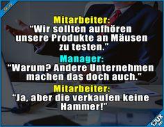 Die armen Mäuse! #nurSpaß #schwarzerHumor #stopptTierversuche #Witz #Witze #Humor