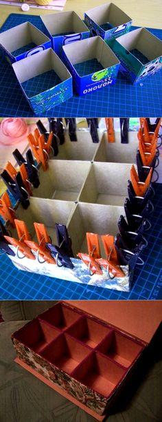 Шкатулка из коробок от молока своими руками | 33 Поделки