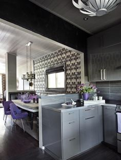 Lacquered Kitchen Cabinets - Colors We Love: Whisper Gray on HGTV