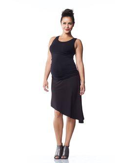 Asymmetrical Jersey Skirt | Maternity Wear & Maternity Clothes Online Australia | Soon Maternity