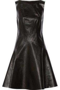 Jason Wu Corset-detailed leather dress | THE OUTNET
