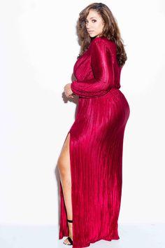 Resultado De Imagen Para Erica Lauren Mcneil Women S Fashion Girls Maxi Dresses, Maxi Gowns, Plus Size Maxi Dresses, Gown Dress, Big Girl Fashion, Curvy Women Fashion, Plus Size Fashion, Pink Clubwear, Curvy Models