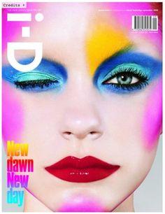 i-D magazine cover with impressive make up artistry.
