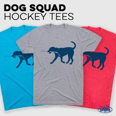 Rocky the Hockey Dog loves hockey almost as much as you do, and has plans to get at least one hat trick this season. This is a great hockey T-Shirt for players and fans, who will wear it all year round alone or as part of a layered look. Hockey Coach, Hockey Puck, Hockey Party, Hockey Gifts, Coach Gifts, Custom Clothes, Dog Love, Basement, Fans