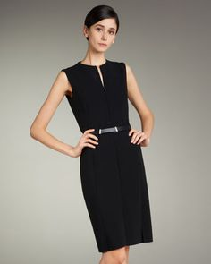 Zip-Front Double-Face Dress by Akris at Neiman Marcus.