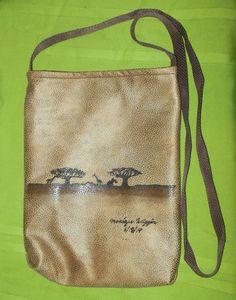 Crossbody Handpainted Bag Tote, Kalahari #Handmade #TotesShoppers
