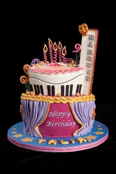 extreme musical theater cake