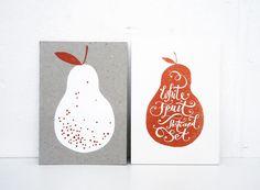 / White Fruit Postcard Set - Karolin Schnoor