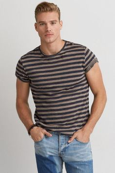 American Eagle Outfitters 40WEFT Striped T-Shirt