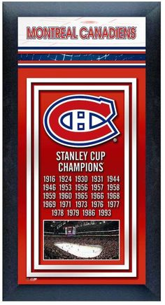 Stanley Montreal Canadiens Cup Champions Framed Wall Art