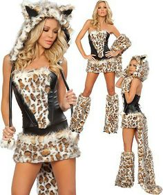 Sweet Girl Holloween Cat Cosplay Costume