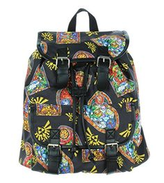The Legend Of Zelda Stained Glass Medium Slouch Backpack * Click on the image for additional details.