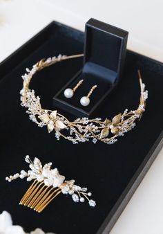 ROSEBURY crystal wedding crown 8