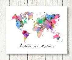 BUYMA.com 国内即発 世界地図 ワールドマップデザイン ポスター A4サイズ(17320404)