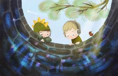 Interactive book for children from NeveBooks Dragon & Wolf