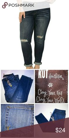 Kut from the Kloth Plus Size 20W Celine Boyfriend Kut from the Kloth Plus Size 20W Celine Boyfriend Jeans factory distressed Kut from the Kloth Jeans Boyfriend