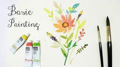Watercolor Basic Painting (Easy, Beginner)