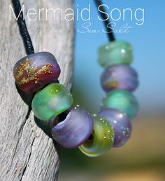 MOJITO SEA BREEZE Sea Salt Organic Seeds Glass Lampwork Beads