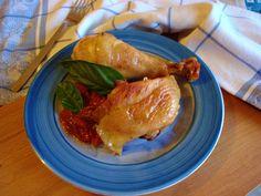 pollo al pomodoro fresco basilico e pancetta