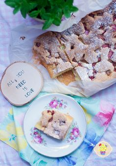 Delikatne ciasto z rabarbarem - DusiowaKuchnia.pl All You Need Is Love, Bread, Food, Eten, Bakeries, Meals, Breads, Diet