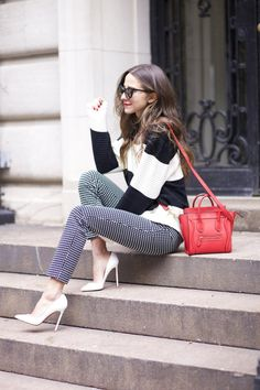 Photography by Alexandra Wolf Pants: Express, so cute | Sweater: Nasty Gal, in beige | Shoes: Christian Louboutin, Manolo Blahnik | Bag: Celine | Sunnies: Wildfox | Lipstick: MAC Sorry I have been MIA for the last week, I was so incredibly busy with NYFW and TRESemme that I literally didn't have a second to …