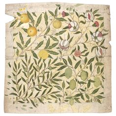 Designs for 'Fruit' and 'Wreath' wallpapers by William Morris, 1862-6 - Victoria and Albert Museum