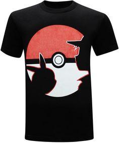 011816f5 Pokemon Go Pikachu and Ash Silhouette Men's T-Shirt Pokemon T, Pokemon  Party,