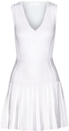 Pin for Later: Take Inspiration From Wimbledon With 37 Little White Numbers Cushnie et Ochs Pleated Stretch-knit Mini Dress Cushnie et Ochs Pleated Stretch-knit Mini Dress (£391, originally £910)