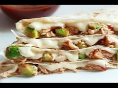 Barbecue Chicken and Avocado Quesadillas - Skinny Ms.