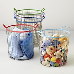 Kids Storage: Colorful Wire Storage Bins
