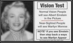 I'm nearsighted and before I clicked on it I did think it was Marilyn Monroe.