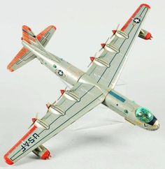 And yes, a safe, harmless, giant Atomic Bomb and a toy strategic bomber to deliver it. Those were the days. Metal Toys, Tin Toys, Proud Mom Quotes, Brother Quotes, Antique Toys, Vintage Toys, Plastic Toy Soldiers, Airplane Toys, Bolt Action Rifle