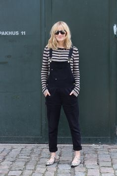 simple outfit with dungarees