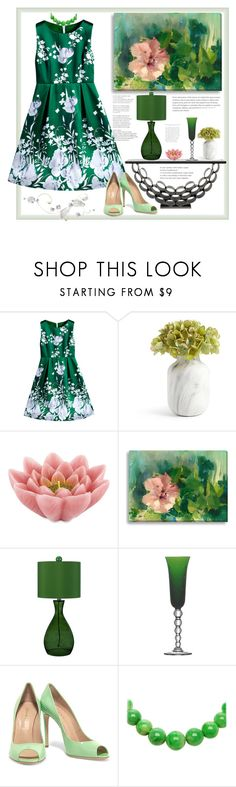 """""""Elegant experiment"""" by natalyapril1976 ❤ liked on Polyvore featuring Pink Lotus, AF Lighting, Saint Louis and Casadei"""