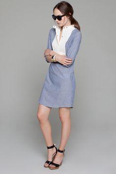 Bib Shirt Dress   Emerson Fry