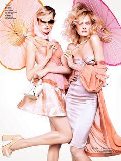 modelmoiselle:  Double VisionConstance, Catherine, Liu, Kasia, Mirte, Bette, Hanne-Gaby, Alana, Marie, Cora, Sam & Martha by Sharif Ham...