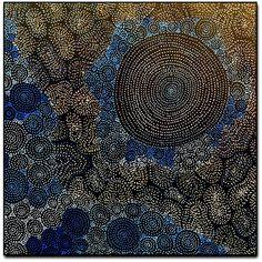Amazing Australian Aboriginal Artwork by Sarrita King / Waterholes is the title of the painting. Aboriginal Dreamtime, Aboriginal Artwork, Kate Owen, Personal Achievements, Melbourne Art, Alice Springs, Paris Art, Beer Labels, Australian Art
