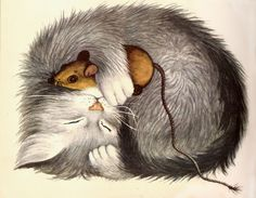 ♥CAT♥ 350 THE KITTEN WHO THOUGHT HE WAS A MOUSE (GARTH WILLIAMS)
