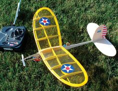 The Mini Zephyr.  My favorite little rc plane. So cute and charming and perfect.  Plans are $11 from Flying Models magazine. The wings need to be either blue or red - not yellow.