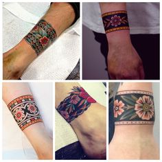 These are gorgeous Forearm Cover Up Tattoos, Wrist Band Tattoo, Wrist Tattoos, Flower Tattoos, Tattoo Bracelet, Arm Tattoo, Body Art Tattoos, New Tattoos, Sleeve Tattoos