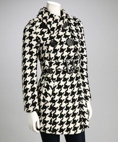 Take a look at this Black & White Houndstooth Coat - Women & Plus by Best Dressed: Women's Apparel on @zulily today!
