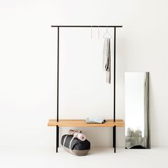 weld & co - Eiche - Garderobe 01 - Groesse M - - Mood 01 Oak Wardrobe, Wardrobe Rack, Hallway Unit, Garden Floor, House Entrance, Wood And Metal, New Homes, Shelves, House Design