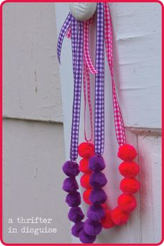 Pink and Purple Kids Necklaces