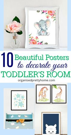 Love these gorgeous prints for toddler room or nurseries via Etsy. Easy, simple, fun wall art decor ideas for kids room. Inspiration for little girls or boys bedroom or playroom. Quotes, footprint art, gift idea for a baby shower. - Organised Pretty Home Cute Wall Decor, Cool Wall Art, Kids Wall Decor, Cute Home Decor, Cheap Home Decor, Nursery Room, Kids Bedroom, Nursery Decor, Room Decor