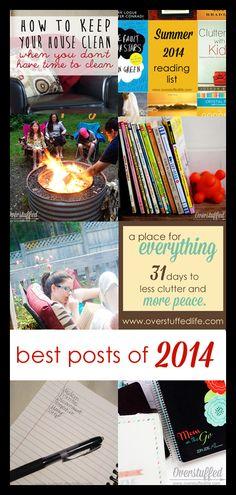 The Ten Most Popular Posts in 2014 on www.overstuffedlife.com